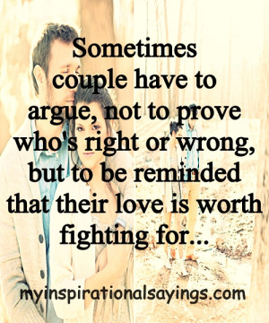 Sometimes Couple have to Argue