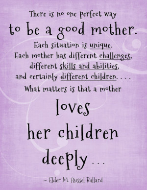 ... mother and with my experiences with infertility is to cherish children