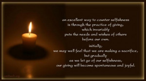 Selfishness quotes sacrifice quotes buddhist sayings