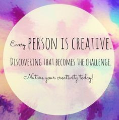 Every person is creative quote via www.Facebook.com/SimplyMused