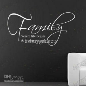 Family & Live English Quote Wall Decal Lettering Saying Art Sticker ...