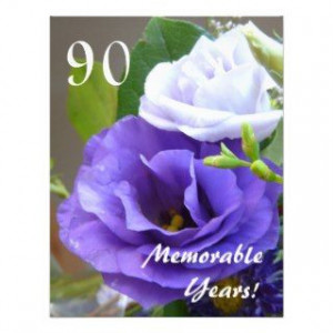 90 Memorable Years! Birthday Celebration/+Quote Personalized