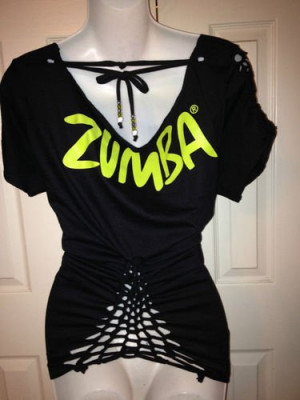 Zumba Live to Love T Shirt Customized with Intricate Back in Black ...