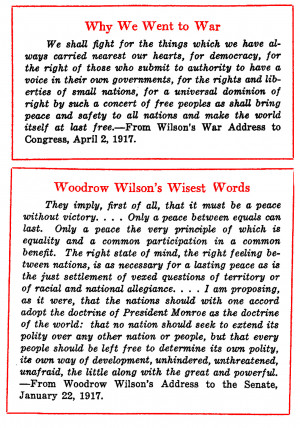 Woodrow Wilson Ww1 Quotes Woodrow wilson on the war and