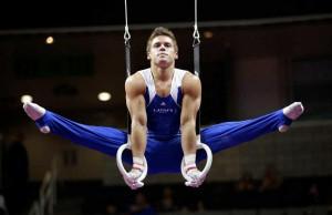 ... round of the men's Olympic gymnastics trials in San Jose, Calif. AP