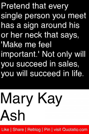 ... you succeed in sales, you will succeed in life. #quotations #quotes