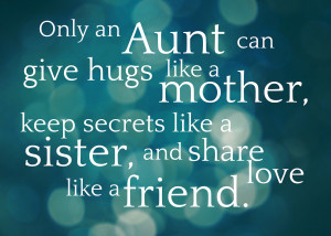 feel free to save and print for all those wonderful aunties in your ...