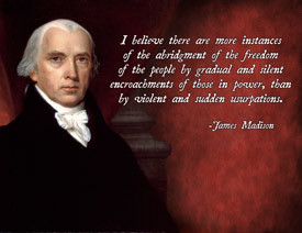 James Madison freedom quote