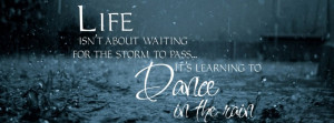 Learning too dance in the rain.