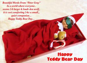 happy teddy bear day quotes hd wallpaper categories happy teddy ...