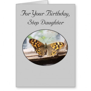 Birthday Quotes For Stepdaughter Happy birthday card for a step