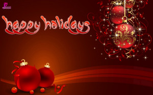 Happy Merry Christmas Happy Holidays Wishes Card