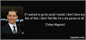 More Tobey Maguire Quotes