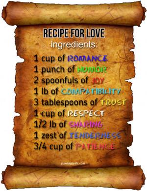 Love Recipe Quotes
