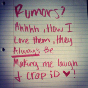 Rumors Funny Quote Quotestags