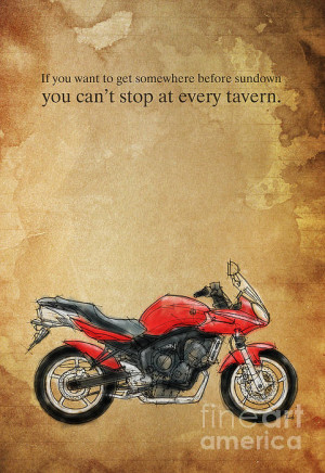 Yamaha Quote And Drawing Print by Pablo Franchi