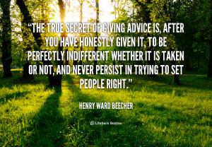 giving advice