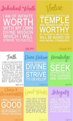 Freebie Fridays - YW Value Posters, Beautiful Quotes & Halloween ...