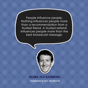 People influence people. Nothing influences people more than a ...