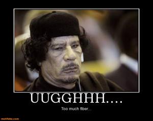 Muammar Gaddafi Demotivational Posters