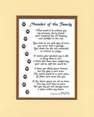 loss of a family member poems