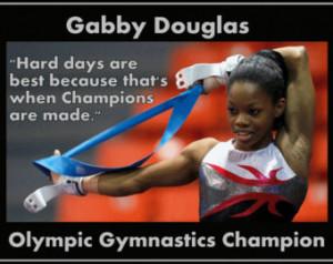 Gymnastics Poster Gabby Douglas Olympic Champion Gymnast Photo Quote ...