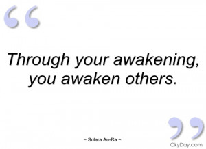 through your awakening solara an-ra