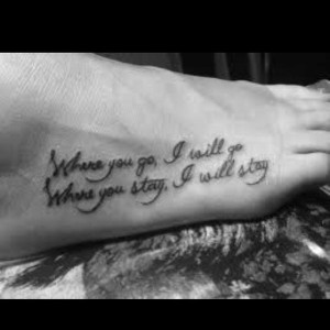 Love the tattoo…love this part of a bible verse to use in vows.