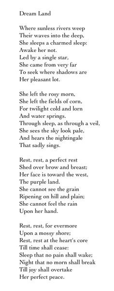 ... rossetti dreams land christina rossetti poetry favorite quotes chrissy