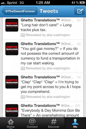 ghetto translations on Tumblr