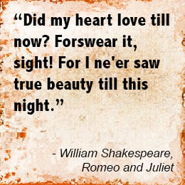 Love Quotes from Romeo and Juliet