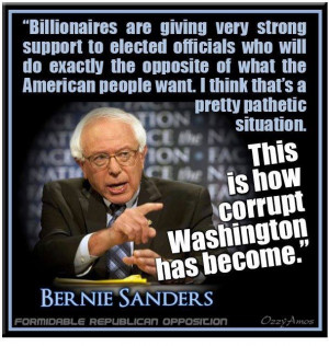 Bernie Sanders - tells it like it is. Sad for America...