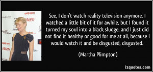 Quotes About Reality TV