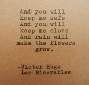 VICTOR HUGO Les MISERABLES Quote Hand Typed on by PoetryBoutique, $10 ...