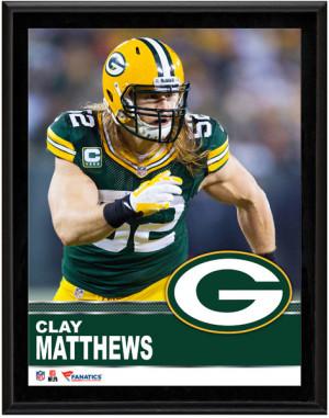 Bay Green Matthew Packer Clay Mathews