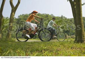 Stock Photo Man Riding Bike