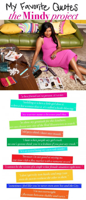 ... as Mindy Lahiri on The Mindy Project; amazing and hilarious quotes