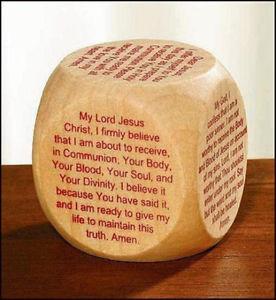 ... Boys-Girls-Gift-2-Wood-Holy-First-Communion-Holy-Eucharist-Prayer-Cube