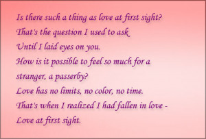 Love at First Sight Poems