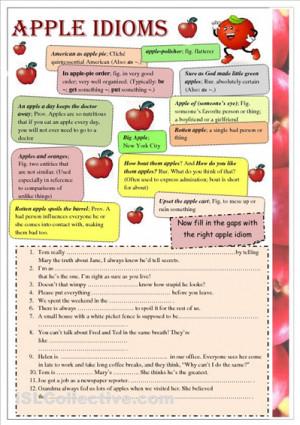 Printable Idiom Worksheets