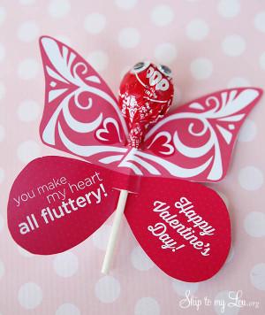 you make my heart flutter butterfly valentine