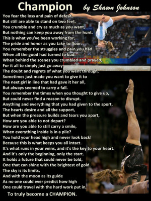 Gymnastics Poster Shawn Johnson Authored Poem Olympic Champion Gymnast ...