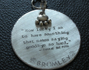 Custom Handstamped Pet Memorial/Remembrance Ornament