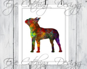 Terrier Dog Puppy Pet Lover Watercolor Painting Fine Art Print Poster ...