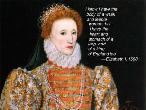 Elizabeth I Quote