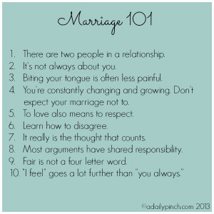 Marriage Is Not On marriage , love, and what I've learned.