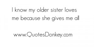 Love My Older Sister Quotes