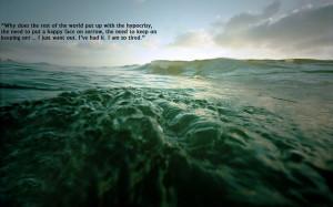 water ocean quotes 1920x1200 wallpaper Nature Oceans HD