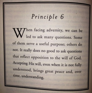 Willing sacrifice of deeply held personal desires in favor of God's ...