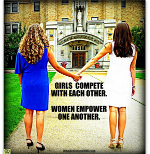 girls compete with other girls women empower other women